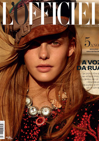 Esther Lomb by vivienne models Cover shooting für die Lofficiel